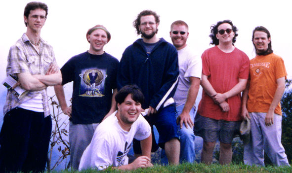 09.23.00 - The band atop a mountain overlook on the Blue Ridge Parkway in North Carolina