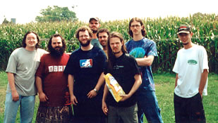 The band with friends in Intercourse, PA - 8.24.01